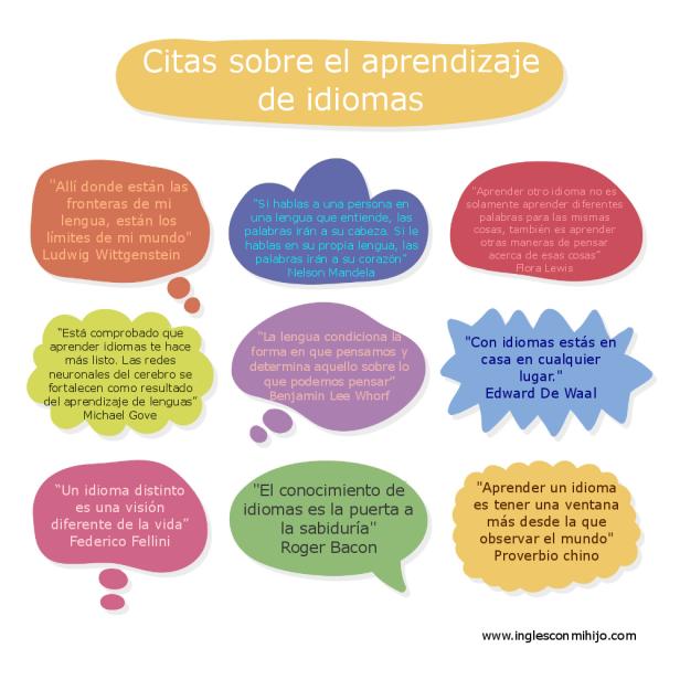 Frases Sobre El Aprendizaje De Idiomas Inglés Con Mi Hijo